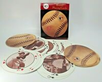 Round Playing Cards Baseball Shaped Vintage Photos Genuine MLB Merchandise (A16)