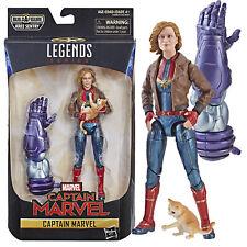 Legends Captain Marvel Movie Bomber Jacket w/ Cat Action Figure Hasbro NEW MIB