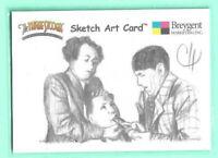 The Three Stooges Sketch Art Card Breygent 2005 Hand Drawn RARE Chris Henderson
