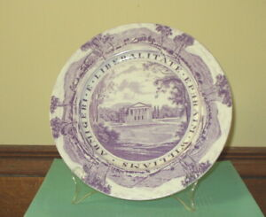 "Williams College 10.25""  Staffordshire Dinner Plate  Chapin Hall"