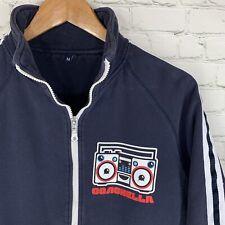 Vintage RARE Authentic COACHELLA (Men's M) Blue Full Zip Pocketed Sweatshirt