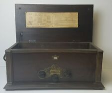 Antique king model 80 receiver radio with 4 tubes in wood case