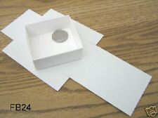 """FB-24 Fold up boxes 100 count White 2 1/2"""" X 2 1/2"""""""