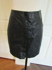 NWT Anthropologie Free People Women's Black Snap Faux Leather Skirt Size 2 $78