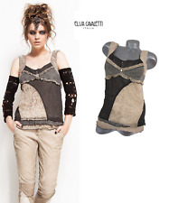 ELISA CAVALETTI BOTTEGA ITALIAN DESIGNER XXL *Brand New/Tags* TOP BLOUSE T-SHIRT