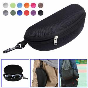 Portable Carabiner Eye Glasses Sunglasses Hard Case Protector Box Zipper Box UK