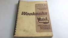 Waukesha Parts Book for Engine Models