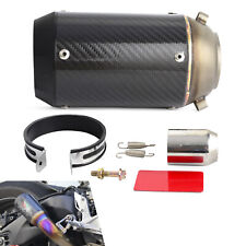 125-1200CC Exhaust Muffler Carbon Fiber For Street Racing Sport Bike Scooters