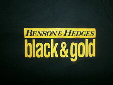 BENSON & HEDGES BLACK & GOLD TANK TOP Cigarettes vtg T Shirt Smooth Edge XL