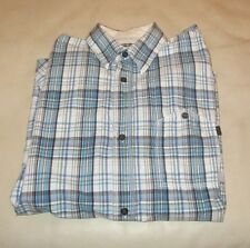 FCUK FRENCH CONNECTION Men's Long Sleeved Shirt Bue & White CHECKED Size XS