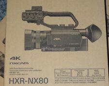 Sony hxr NX 80 + FV 100 la más reciente videocámara 4k de Sony distribuidor