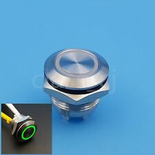 12mm Green 12V LED 4Pin 1NO Momentary Mini Push(Click) Button Switch Short Body