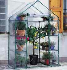 Serra Optima a casetta giardino balcone 8 ripiani acciaio + telo pvc cerniera