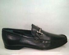 Bally Black Leather Horsebit Slip On Loafer 10 EEE