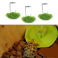 Automatic Reptile Lizard Snake Food Water Feeder Dispenser Round G5B8 Y1S8