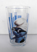 RARE SMURF SCHTROUMPF Spectacles Smurf Movie Glass 2011 MINT IN BOX