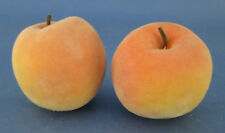 Faux Fake Fruit 2 Fuzzy Peaches Plastic Decorative Staging Prop