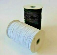 2.5MM ROUND ELASTIC BLACK OR WHITE FACEMASKS HATS CRAFTS SEWING DRESSMAKING