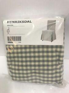 Ikea Gray check Cover for Henriksdal Chair Long Slipcover Sågmyra Sagmyra Gray