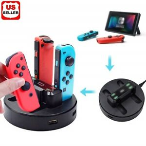 Joy-Con Charge Stand 4 Controller USB Charging Dock for Nintendo Switch w/ 2 USB