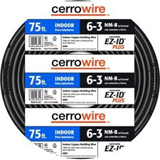 75 ft. 6/3 NM-B Wire Home Electrical Building Indoor Residential Durable New