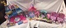 Huge Little People Lot Disney Princess Prince Castle, Carriage, Garden Party