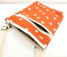 Red sheep fabric Double zip Cross body/Messenger/light weight/adjustable strap