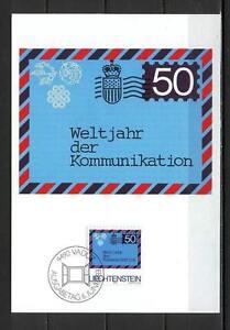 Maxi Card B25 Liechtenstein 1983 Airmail letter