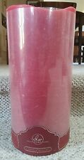 """NEW 12"""" PINK RoSe LED WAX PILLAR CANDLE * Battery Operated * FLICKER FLAME"""