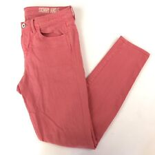 Madewell Women's 27 Jeans Skinny Ankle Stretch Pink Coral Denim 30x28