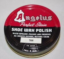 Angelus Shoe Wax Polish Perfect Stain- Tan 3oz