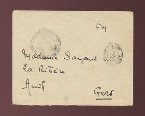FRENCH SAHARA MILITARY MAIL FM CONCESSION 1942 KATI MALI