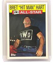 2016 WWE Topps Heritage WCW NWO All Star Bret Hitman Hart Trading Card WWF ECW