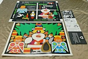 Christmas Window Trimmer Kit Colorform Printers Proof For Colorforms Box and Set