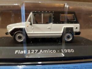 Fiat 127 Amico 1980 1/43 CAR MINIATURE DIE CAST RARE COLLECTIBLE