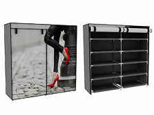 Stoffschrank Schuhschrank Schuhregal rote Pumps schwarz weiß 10 Fächer Non Waven