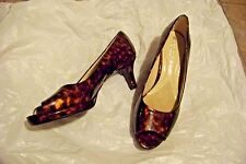 womens naturalizer n5 hanning animal print patent open toe heels shoes size 10