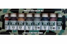 VALLEJO 70.122 Panzer aces color set n°1 8x17ml