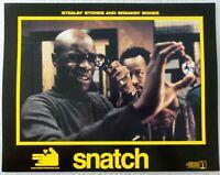 "ORIGINAL 2000 LOBBY CARD 14"" x 11"" - ""SNATCH"" - BRAD PITT - JASON STATHAM"