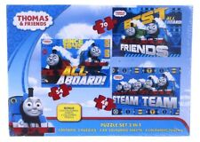 NEW OFFICIAL THOMAS THE TANK ENGINE JIGSAW PUZZLE PUZZLE GAME 3 IN 1 PUZZLES