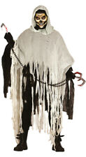 Mens Grim Reaper Death Robe Ghost Costume Halloween Horror Outfit 42-44 NEW