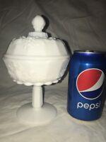 Vtg Westmoreland Milk Glass Grape Shabby White Cottage Candy Dish Trinket Box