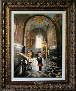 """Oil Painting PRINTED on Canvas Arseni ~ AN ORPHAN 19"""" X 14"""" Art NO FRAME Artist"""