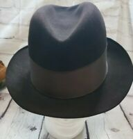 Lee Fifth Avenue DuPont Vintage Long Oval Fedora Hat Mens Size 7 Water Bloc