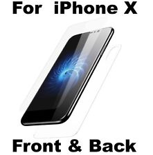 Front Tempered Glass & Back Glas Screen Protector Cover Guard For Apple iPhone X