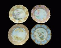 Haviland 19th Century Rare Hand Painted Floral Signed O.Lesshafft Set of 4