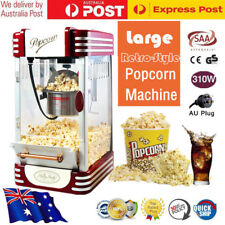 AU Retro Style Electric Popcorn Machine 310W Popper Popping Microwave Cooker Kit
