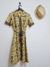 Vintage Dress Batik Lady Hawaiian Pattern Cotton Dress