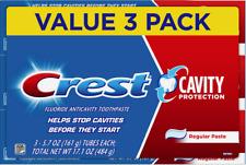 CREST CAVITY Protection 'Regular' Flouride Anticavity Toothpaste 3x161gr =484 gr