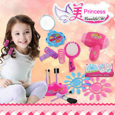 6PC Kids Pretend Play Vanity Play Dresser Cosmetic Makeup Toy For Girls Pink Toy